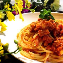 アッラプッタネスカ/pasta/グルメ/フード/おうちごはん 今夜の夕飯です^ ^  息子と娘の剣道練…
