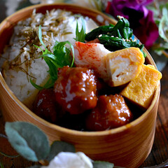 肉団子甘酢/お弁当/フォロー大歓迎 おはようございます😊 今日のお弁当です …