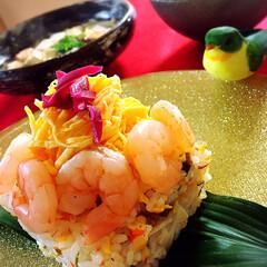 水炊き/ちらし寿司/ひな祭り/わたしのごはん/グルメ/フード 今夜の夕飯です^ ^  3月3日ひな祭り…