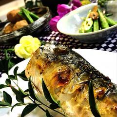 煮っころがし/里芋/塩焼き/鯖/和食/豚汁/... 今夜の夕飯^ ^ 今夜は和食でホッとしま…