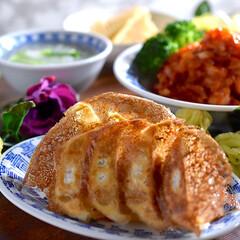 竹の子土佐煮/白菜あんかけスープ/エビチリ/餃子 こんばんは^ ^  今日もゆっくり楽しん…
