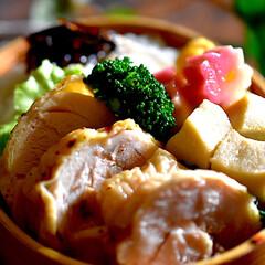 ジューシー/ローストチキン/お弁当/フォロー大歓迎 今日のお弁当^ ^  昨日焼いたロースト…
