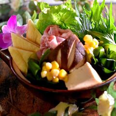 食材整理/鍋物/胡麻味噌鍋/フォロー大歓迎 こんばんは^ ^ 今夜の夕飯です  今日…