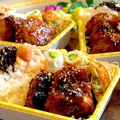 鶏つくね/遠足/お弁当/フォロー大歓迎 今日のお弁当です^ ^  今年最後の大人…(1枚目)