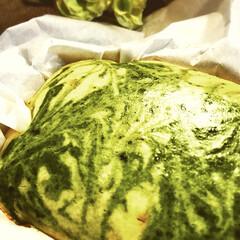 チーズケーキ/抹茶/グルメ/フード 抹茶マーブルチーズケーキ^ ^  甘さ控…