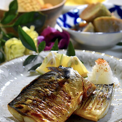 オムレツ/大根と厚揚げの煮物/塩鯖/ご飯/フォロー大歓迎 今夜の夕飯です^ ^ 今夜は食材整理です…