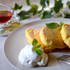 リミアな暮らし/子供の日/おやつ作り/おやつタイム/スフレパンケーキ/パンケーキ こんにちは^ ^  今年の子供の日はユッ…