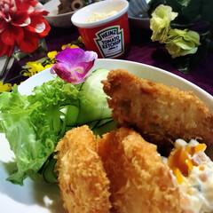 海老カツ/カキフライ/グルメ/フード/おうちごはん 今夜の夕飯です^ ^  今夜は私の大好き…