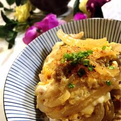 お味噌汁/親子丼/わたしのごはん/グルメ/フード 夕飯です^ ^  息子の剣道お稽古日 大…