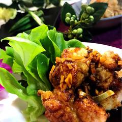 油淋鶏/グルメ/フード/おうちごはん 今夜の夕飯^ ^  唐揚げがあまり好きで…(1枚目)