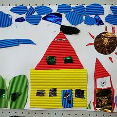 展覧会/作品/図工 小学二年生の息子の作品^ ^  カラフル…
