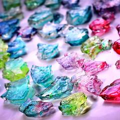 シロップ/自由研究/琥珀糖/食べられる宝石 キラキラ美しい食べる宝石^ ^  夏休み…