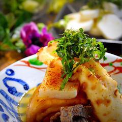 山芋のお浸し/野菜サラダ/おでん/フォロー大歓迎/LIMIAごはんクラブ/おうちごはんクラブ 今夜の夕飯です^ ^  昨日とは正反対の…