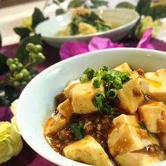 麻婆豆腐/おうちごはん/グルメ/フード 今夜の夕飯です^ ^  剣道のお稽古日な…