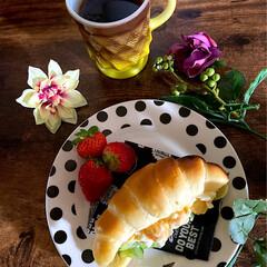 朝ごはん/玉子サンド/ロールパン/リミアな暮らし/暮らし おはようございます😊  今朝はややこしい…