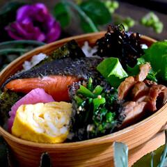 リミアな暮らし/鮭弁/お弁当/暮らし おはようございます😊  良いお天気の祭日…