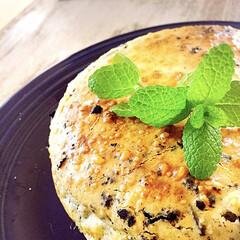持ち寄り/お誕生日/オレオ/チーズケーキ/至福のひととき/おやつタイム/... オレオ入りチーズケーキ^ ^ まんまるワ…