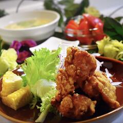 唐揚げ/LIMIAごはんクラブ/おうちごはんクラブ 今夜の夕飯です^ ^  中華料理屋さんみ…