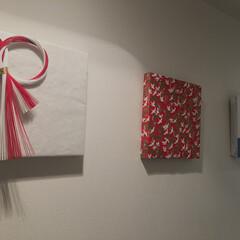お正月飾り/お正月インテリア キャンパスアートをラッピングするだけで、…(1枚目)