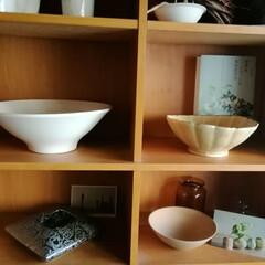 白い器/nagomiちゃんありがとう!/花器/nagomiさんの器 新しい花器が仲間入りしました! 直径30…