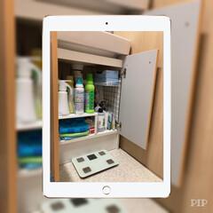 ワイヤーネットで簡単な棚/ワイヤーネット/洗面台収納/IKEA/キャンドゥ/収納 〜洗面台の中〜  空間を利用したくて、悩…