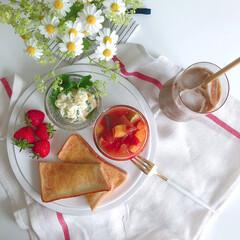 クチポール CUTIPOL テーブルフォーク ディナーフォーク GOA ゴア GO.04 WGB ゴールド×ホワイト   クチポール(フォーク)を使ったクチコミ「ある日の私のお昼ごはん。 作り置きのおか…」