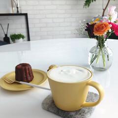 マルティネリ/クチポール/コーヒー/カルディ/花のある暮らし/引きこもり/... 昨日のロールちゃん騒動で余った生クリーム…