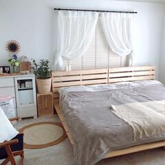 ミックスインテリア/bohostyle/模様替え/寝室インテリア/寝室/おしゃれ/... 寝室の模様替えをしました。 ベッドの位置…