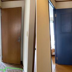 アイアンペイント アイアンブラック(その他塗料、塗装剤)を使ったクチコミ「少し前のDIYの話。 寝室のドアをペイン…」(7枚目)