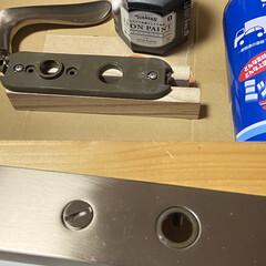 アイアンペイント アイアンブラック(その他塗料、塗装剤)を使ったクチコミ「少し前のDIYの話。 寝室のドアをペイン…」(8枚目)