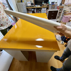 カラーボックス Nカラボ 3段 | ニトリ(カラー、キューブボックス)を使ったクチコミ「少し前に出張DIYしてきました(*•̀ㅂ…」(4枚目)