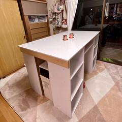 カラーボックス Nカラボ 3段 | ニトリ(カラー、キューブボックス)を使ったクチコミ「少し前に出張DIYしてきました(*•̀ㅂ…」(2枚目)
