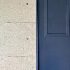 アイアンペイント アイアンブラック(その他塗料、塗装剤)を使ったクチコミ「少し前のDIYの話。 寝室のドアをペイン…」(2枚目)