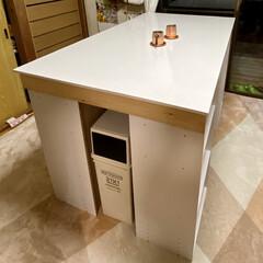 カラーボックス Nカラボ 3段 | ニトリ(カラー、キューブボックス)を使ったクチコミ「少し前に出張DIYしてきました(*•̀ㅂ…」(1枚目)