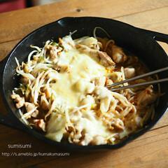 スキレット/チーズタッカルビ/グルメ/フード/キッチン/キッチン雑貨 ロッジのスキレットで作るチーズタッカルビ…