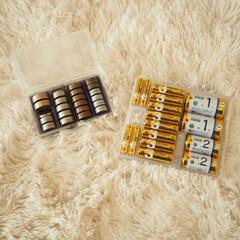 フォロー大歓迎/100均/ダイソー/収納/わたしのお気に入り 防災用に購入したダイソーの乾電池ケースと…(1枚目)