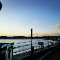 自然のパワー/海 今日の夕方の由比ヶ浜♪  仕事帰りに パ…