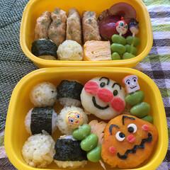 クッキー/保育園弁当/アンパンマン/キャラ弁/フード/スイーツ/... 息子アンパンマン飯。 私の絵心ではアンパ…