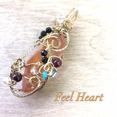 アート/天然石/天然石アクセサリー/ハンドメイド/ファッション  冬といえば、コタツでみかん♪  発色が…