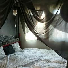 シック/天蓋/ベッドルーム/夏コーデ/夏インテリア/インテリア/... 夏用ベッドカバーは、シングルサイズのベッ…