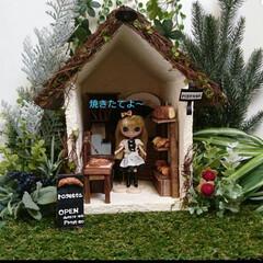 1/12サイズ/ドールハウス/ドールハウス手作り/ハンドメイド ドルハシリーズ♪ 森の中の小さなお店。 …