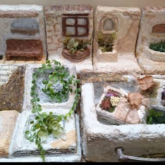 モルタル造形/モルタルデコ/モルタル/ハンドメイド モルタルシリーズ♪ 多肉植物等を植えるモ…