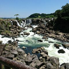 鹿児島 鹿児島県の曽木の滝という場所です。 絶景…
