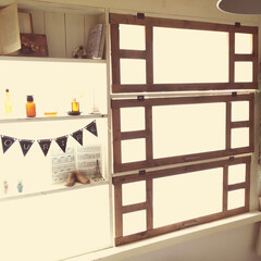 窓枠/はめ込み/賃貸DIY/賃貸アパート/diy201604 普通の窓に枠をはめ込み、内窓と棚を付けま…(1枚目)
