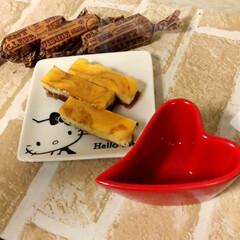 スイーツ/手作り/マーブル/チーズケーキ/バレンタイン バレンタイン♡ マーブルチーズケーキ♡