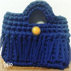 バッグ/ハンドメイド/100均 初めて作ってみた ★ 編み物なんかしたこ…