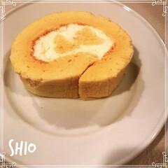 手作りおやつ/ロールケーキ/スイーツ ★ ★ ロールケーキを 作ってみたー😊✨…
