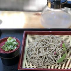 食欲の秋/新そば/秋/グルメ/フード お外で食べるお蕎麦は格別美味しい😋