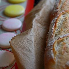 ハードパン/ふんわりパン/サンドイッチ バゲットとマカロン