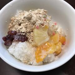 かき氷/韓国料理/グルメ/フード/おうちごはん/スイーツ